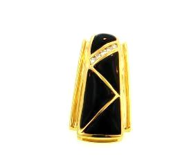 Ladies jewelry 18ky black coral pendant with diamonds mozeypictures Images