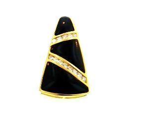 Ladies jewelry pendants 18ky black coral pendant with diamonds mozeypictures Images