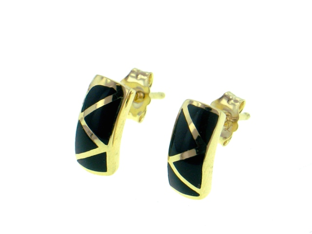 14KY Black Coral Earrings